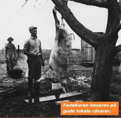 Farmer Butchering Hog