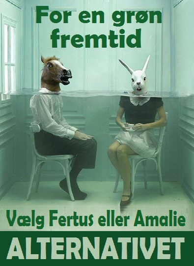 Alternativet valgplakat