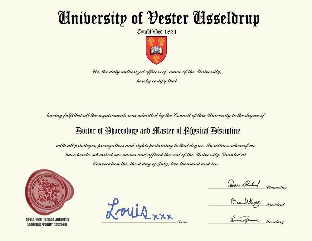 Usseldrup Universitetsdiplom 2018