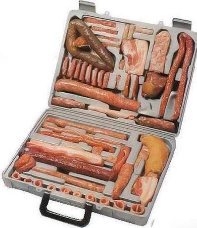 Kuffert pølse flæsk guf