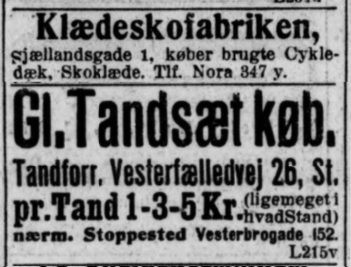 Tandsæt SocDem 16071917