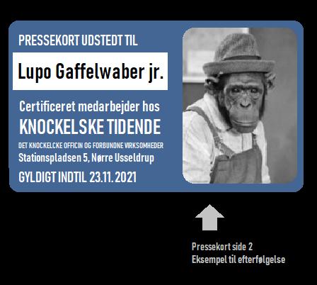 Pressekort bagside EKSEMPEL