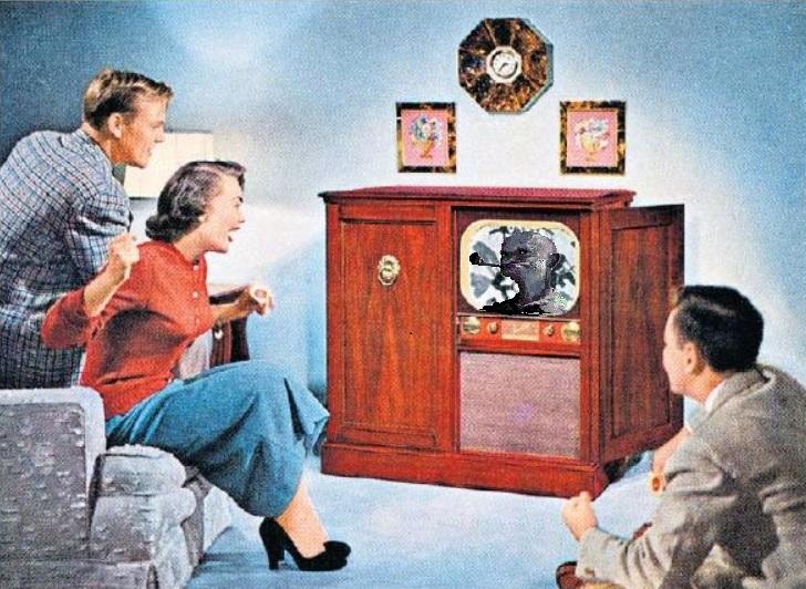 Fjernsyn tv familie med Knockel